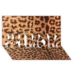 Leopard Print Animal Print Backdrop #1 Mom 3d Greeting Cards (8x4) by AnjaniArt