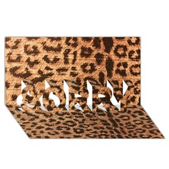 Leopard Print Animal Print Backdrop Sorry 3d Greeting Card (8x4) by AnjaniArt