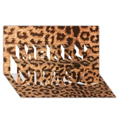 Leopard Print Animal Print Backdrop Merry Xmas 3d Greeting Card (8x4) by AnjaniArt