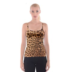 Leopard Print Animal Print Backdrop Spaghetti Strap Top
