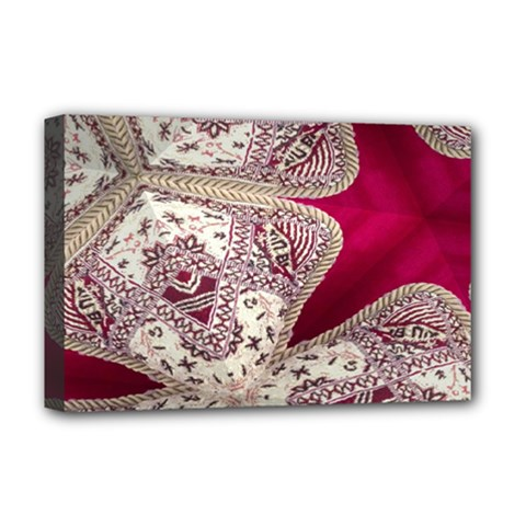 Morocco Motif Pattern Travel Deluxe Canvas 18  X 12