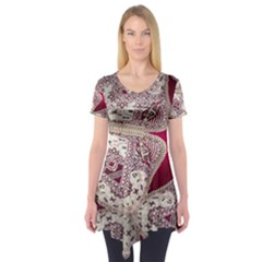 Morocco Motif Pattern Travel Short Sleeve Tunic