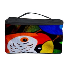 Papgei Red Bird Animal World Towel Cosmetic Storage Case by AnjaniArt