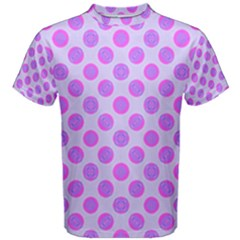 Pastel Pink Mod Circles Men s Cotton Tee by BrightVibesDesign