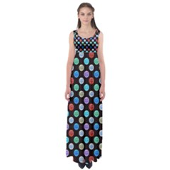 Death Star Polka Dots In Multicolour Empire Waist Maxi Dress by fashionnarwhal