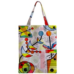 Happy Day Zipper Classic Tote Bag by Valentinaart