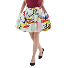 Happy Day A Line Pocket Skirt by Valentinaart