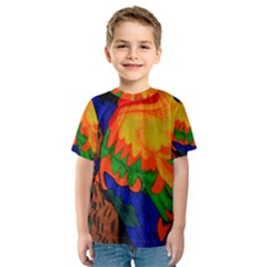 Parakeet Colorful Bird Animal Kids  Sport Mesh Tee