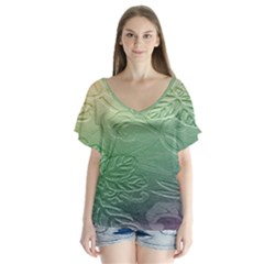 Plants Nature Botanical Botany Flutter Sleeve Top by AnjaniArt
