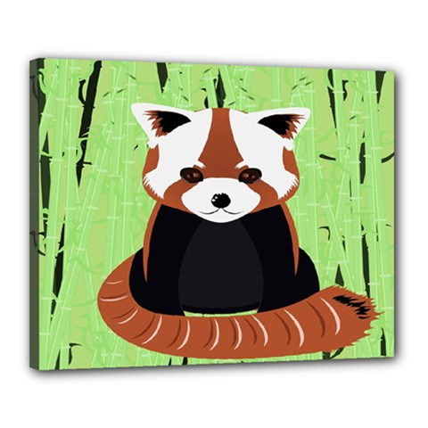 Red Panda Bamboo Firefox Animal Canvas 20  X 16