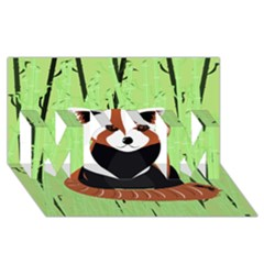 Red Panda Bamboo Firefox Animal Mom 3d Greeting Card (8x4)