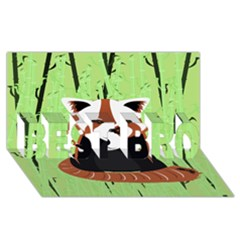 Red Panda Bamboo Firefox Animal Best Bro 3d Greeting Card (8x4)