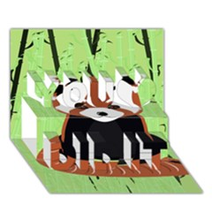 Red Panda Bamboo Firefox Animal You Did It 3d Greeting Card (7x5) by AnjaniArt