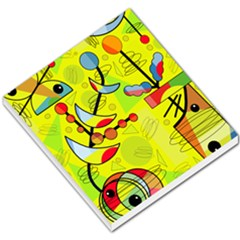 Happy Day   Yellow Small Memo Pads by Valentinaart