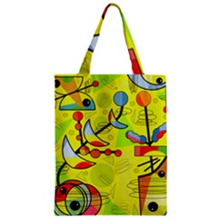 Happy Day   Yellow Zipper Classic Tote Bag by Valentinaart