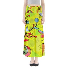 Happy Day - Yellow Maxi Skirts by Valentinaart