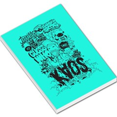 Typography Illustration Chaos Large Memo Pads by AnjaniArt