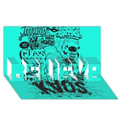 Typography Illustration Chaos Believe 3d Greeting Card (8x4)