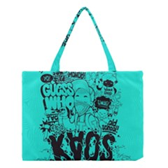 Typography Illustration Chaos Medium Tote Bag