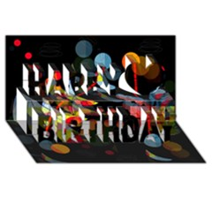 Magical Night  Happy Birthday 3d Greeting Card (8x4)