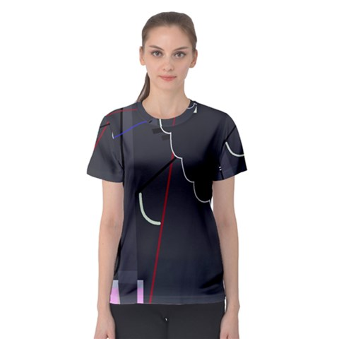 Plug In Women s Sport Mesh Tee by Valentinaart