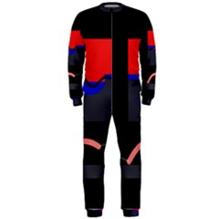 Geometrical Abstraction Onepiece Jumpsuit (men)  by Valentinaart