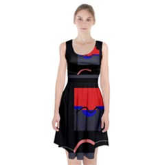 Geometrical Abstraction Racerback Midi Dress