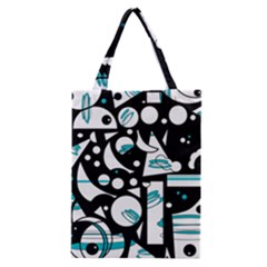 Happy Life   Blue Classic Tote Bag