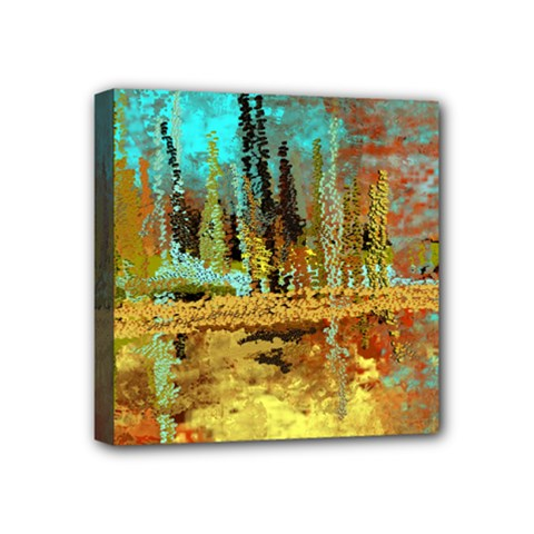 Autumn Landscape Impressionistic Design Mini Canvas 4  X 4  by digitaldivadesigns