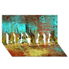Autumn Landscape Impressionistic Design Best Sis 3d Greeting Card (8x4) by digitaldivadesigns
