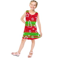Christmas Pattern Kids  Tunic Dress