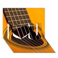 Vintage Guitar Acustic I Love You 3d Greeting Card (7x5) by AnjaniArt