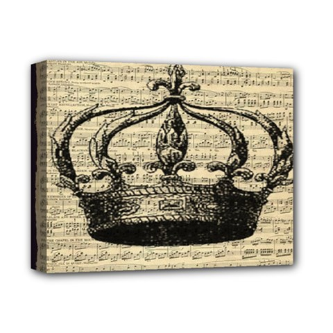 Vintage Music Sheet Crown Song Deluxe Canvas 14  X 11  by AnjaniArt