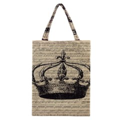 Vintage Music Sheet Crown Song Classic Tote Bag