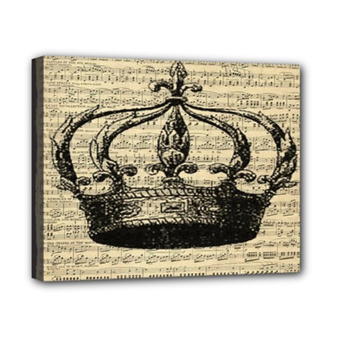 Vintage Music Sheet Crown Song Canvas 10  X 8  by AnjaniArt