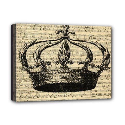 Vintage Music Sheet Crown Song Deluxe Canvas 16  X 12