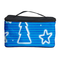 Blue Decorative Xmas Design Cosmetic Storage Case by Valentinaart