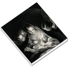 Nativity Scene Birth Of Jesus With Virgin Mary And Angels Black And White Litograph Small Memo Pads by yoursparklingshop