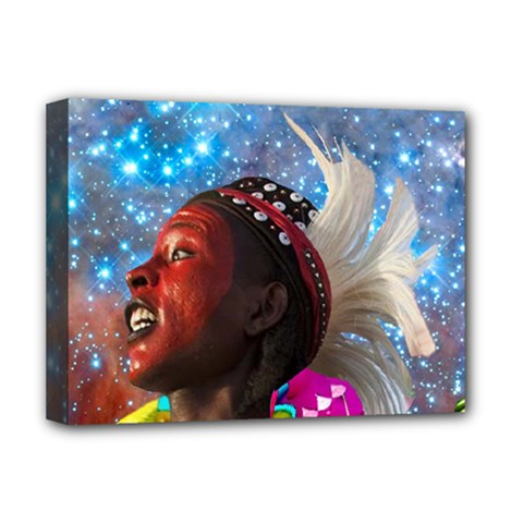 African Star Dreamer Deluxe Canvas 16  X 12   by icarusismartdesigns
