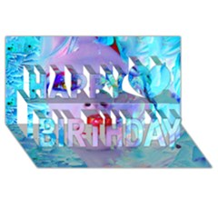 Swimming Into The Blue Happy Birthday 3d Greeting Card (8x4)