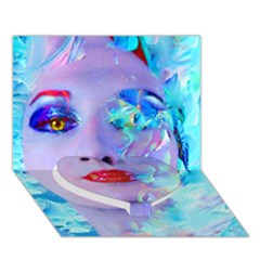 Swimming Into The Blue Heart Bottom 3d Greeting Card (7x5)