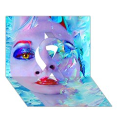 Swimming Into The Blue Ribbon 3d Greeting Card (7x5) by icarusismartdesigns