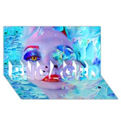 Swimming Into The Blue Engaged 3d Greeting Card (8x4) by icarusismartdesigns