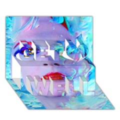 Swimming Into The Blue Get Well 3d Greeting Card (7x5) by icarusismartdesigns