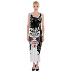 Gypsy Vampire Fitted Maxi Dress by burpdesignsA