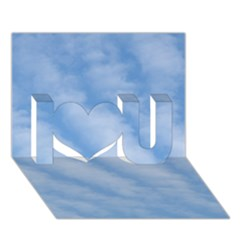 Wavy Clouds I Love You 3d Greeting Card (7x5) by GiftsbyNature