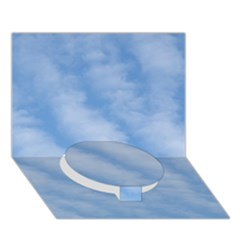 Wavy Clouds Circle Bottom 3d Greeting Card (7x5) by GiftsbyNature