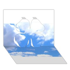 Clouds And Blue Sky Clover 3d Greeting Card (7x5) by picsaspassion