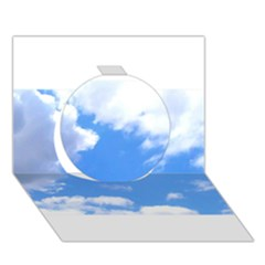 Clouds And Blue Sky Circle 3d Greeting Card (7x5) by picsaspassion