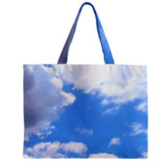 Clouds And Blue Sky Zipper Mini Tote Bag by picsaspassion